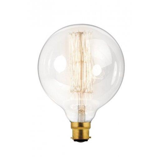 Calex Clear LL Filament Lamp 240V 60W B22 Globe-Type G125