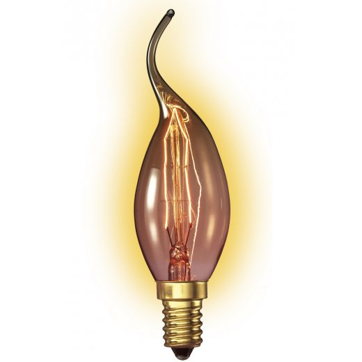 Calex Clear LL Goldline-filament Lamp 240V 25W E14 Tip-candle