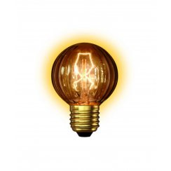 Calex Clear LL Goldline-filament Lamp 240V 25W E27 G60 Golf Ball