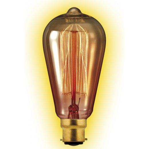 Calex Clear LL Goldline-filament Lamp 240V 35W B22 Rustic 60