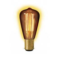 Calex Clear LL Goldline-filament Lamp 240V 40W Ba15d Rustic