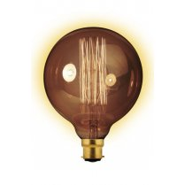 Calex Clear LL Goldline-filament Lamp 240V 60W B22 Globe-Typ