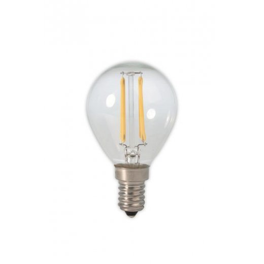 Calex LED Full Glass Filament Ball-lamp 240V 3W E14 P45, Clear