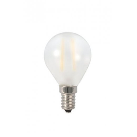Calex LED Full Glass Filament Ball-lamp 240V 3W E14 P45, Frosted