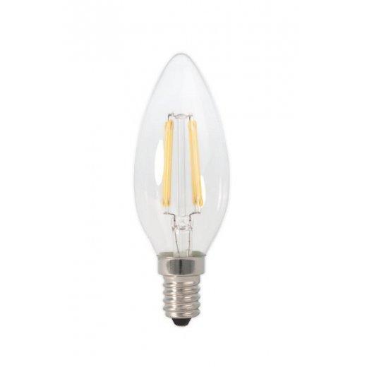 Calex LED Full Glass Filament Candle-lamp 240V 3W E14 B35, C