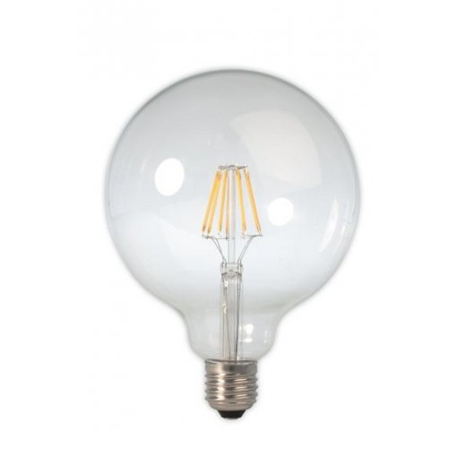 Calex LED Full Glass Filament Globe Lamp 240V 6W E27 , Clear