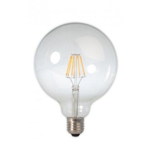 Calex LED Full Glass Filament Globe Lamp 240V 6W E27 , Clear