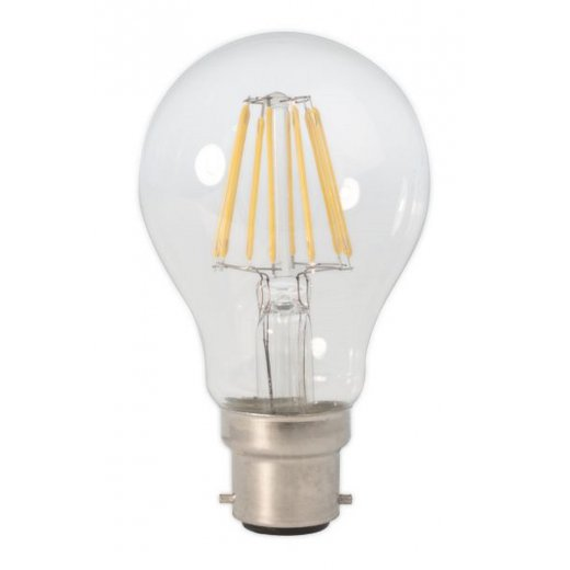 Calex LED Full Glass Filament GLS-lamp 240V 6W B22 A60, Clear