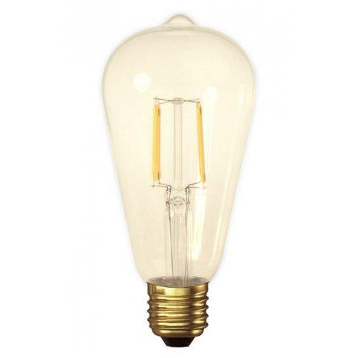 Calex LED Full Glass Filament Rustik Lamp 240V 4W E27, Gold