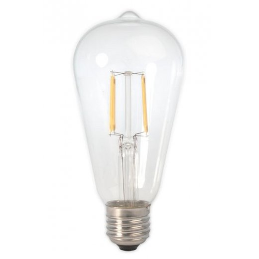 Calex LED Full Glass Filament Rustik Lamp 240V 6W E27 ST64,
