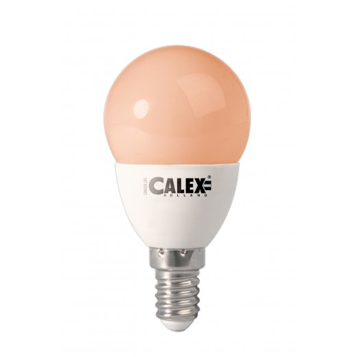 Calex LED golf Ball lamp 240V 3W E14 P45, Flame 200 lumen 25.000