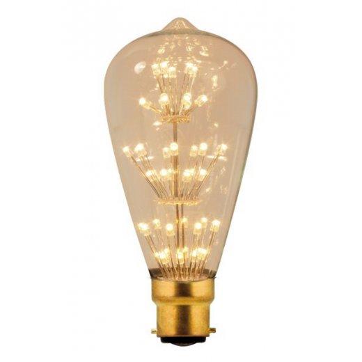 Calex Pearl LED Rustic lamp 240V 3W 280lm B22, 53-leds 2100K