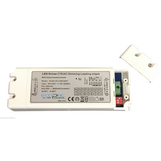 Ecopac Power Ecopac ELED-25-C300/900T Triac Dimmable Driver