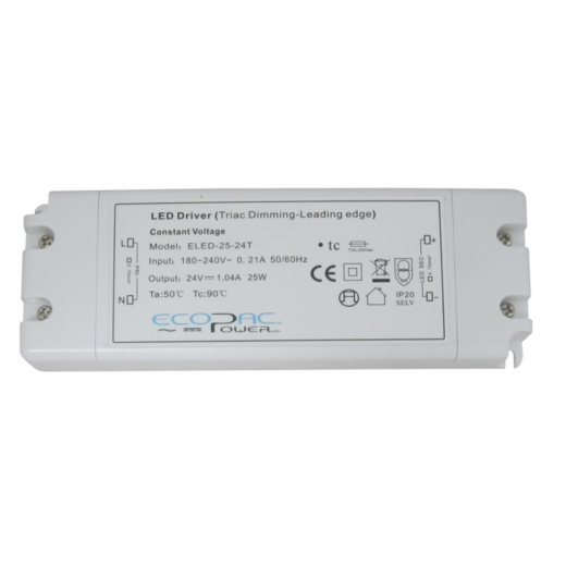 Ecopac Power ECOPAC ELED25-24T Series 25 Watt Triac Dimmable Driver