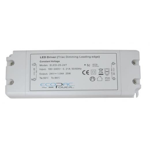 Ecopac Power ECOPAC ELED25-24T Series 25 Watt Triac Dimmable Driver