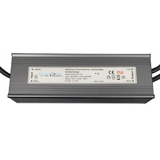 Ecopac Power ECOPAC LED ELED-150-24T Series 150 Watt Triac Dimmable Driver