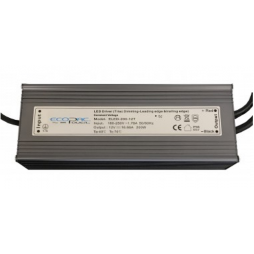 Ecopac Power ECOPAC LED ELED-200-24T Series 200 Watt Triac Dimmable Driver