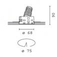 Iguzzini Laser adjustable round 7.3W 75mm Minimal frame