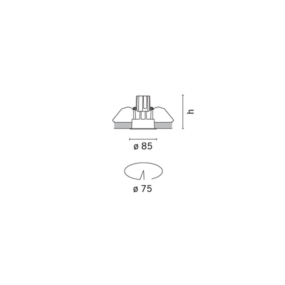 iguzzini laser fixed deep round 8 7w. Black Bedroom Furniture Sets. Home Design Ideas