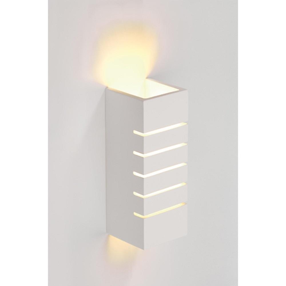 Wall lamp, GL 100 slot, square , white plaster, E14, max. 40W