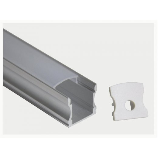 LampLed Uk 1M LED PROFILE SURFACE MOUNTING 16X12MM