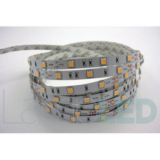 LampLed Uk 5M LED STRIP 5050 30LED PM 7.2 Watts Per M WW IP20