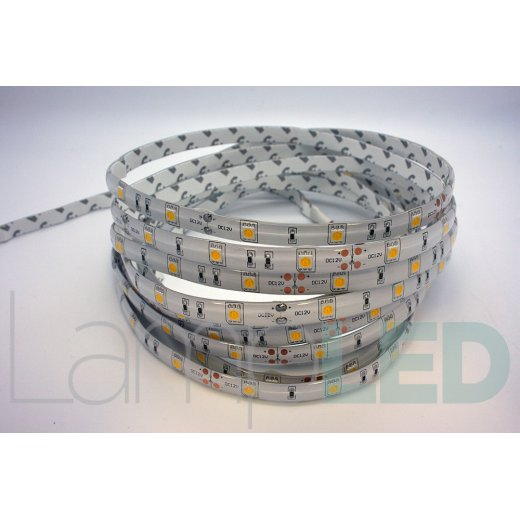 LampLed Uk 5M LED STRIP 5050 30LED PM 7.2 Watts Per M WW IP65