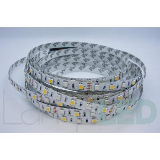 LampLed Uk 5M LED STRIP 5050 60LED PM 14.4 Watts Per M RGB With WW IP20