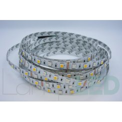 5M LED STRIP 5050 60LED PM 14.4 Watts Per M RGB With WW IP20