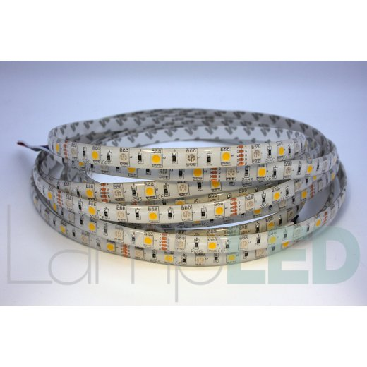 LampLed Uk 5M LED STRIP 5050 60LED PM 14.4 Watts Per M RGB With WW IP65