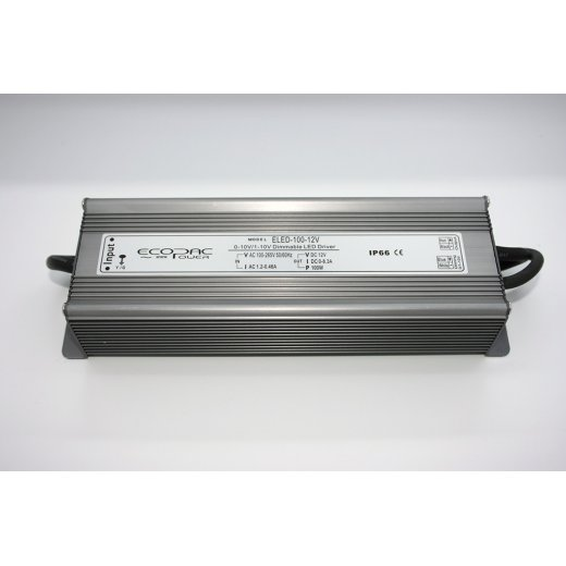 LampLed Uk ECOPAC 12V, 100W, 0-10V DIMMABLE LED DRIVER IP66