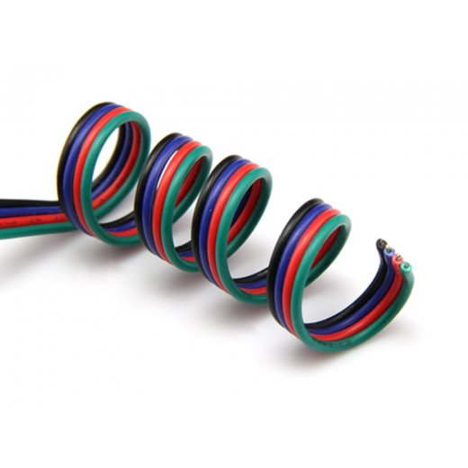 LampLed Uk RGB Colour AWG Cable per mtr