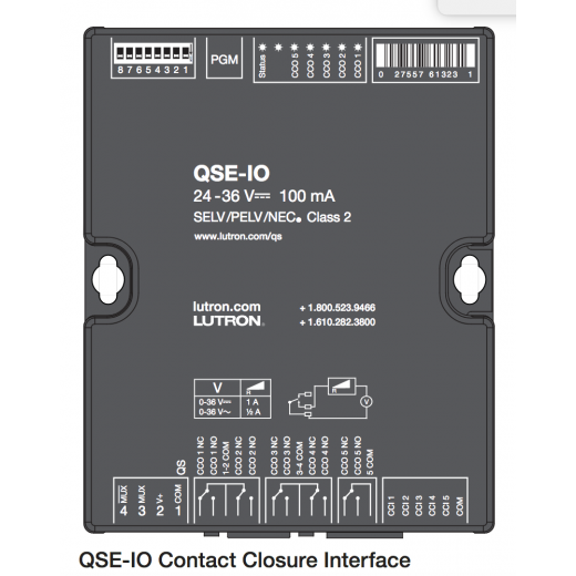 Lutron QSE-IO contact closure
