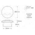 Orlight Recessed Marker Marine Grade 1W Dual Pathlight
