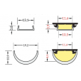 TOPMET Profile LED ARC12 CD/U5